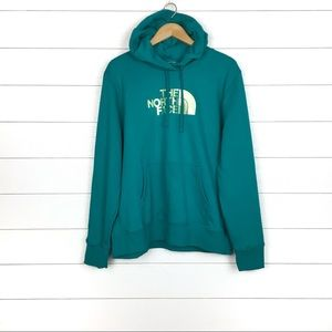 NWT The North Face Logo Half Dome Hoodie Green